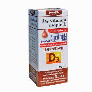 JutaVit D3 vitamin cseppek csecsemőknek, gyermekeknek 30ml