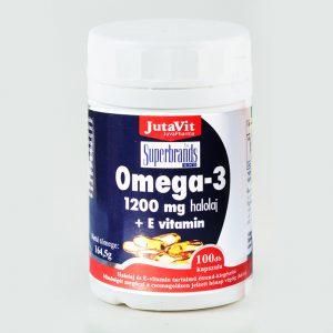 JutaVit Omega-3 Halolaj 1200mg 100 db
